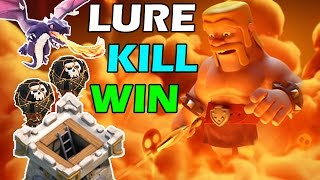 How to Lure and Kill Clan Castle Troops | Clash of Clans #2