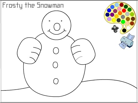 Snowman Coloring Pages For Kids  Snowman Coloring Pages  YouTube