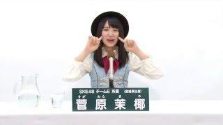 AKB48 45thシングル 選抜総選挙 アピールコメント SKE48 チームE所属 菅...