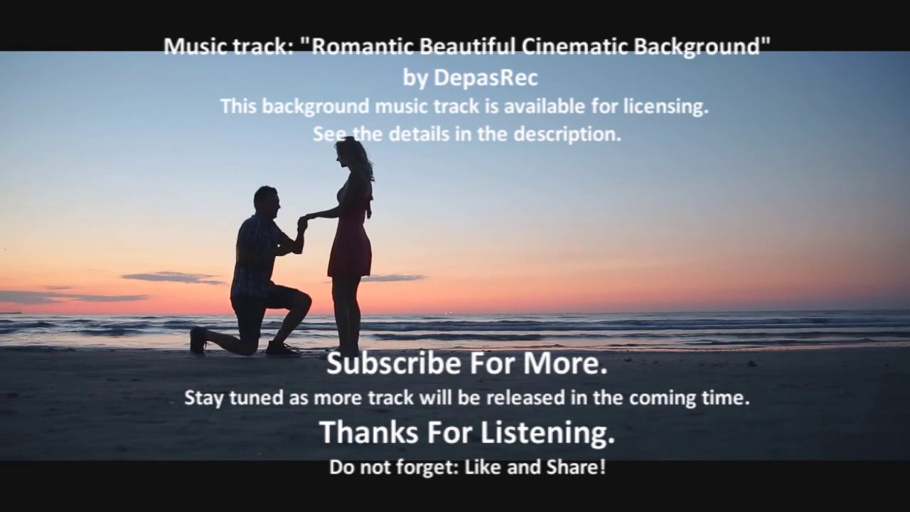 Romantic Beautiful Cinematic Background / Instrumental music / Royalty-free music - by DepasRec