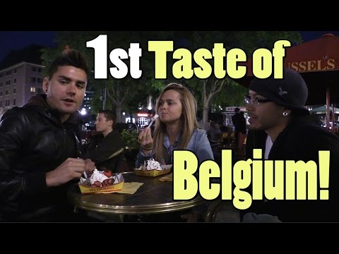 Our first taste of Belgium!
