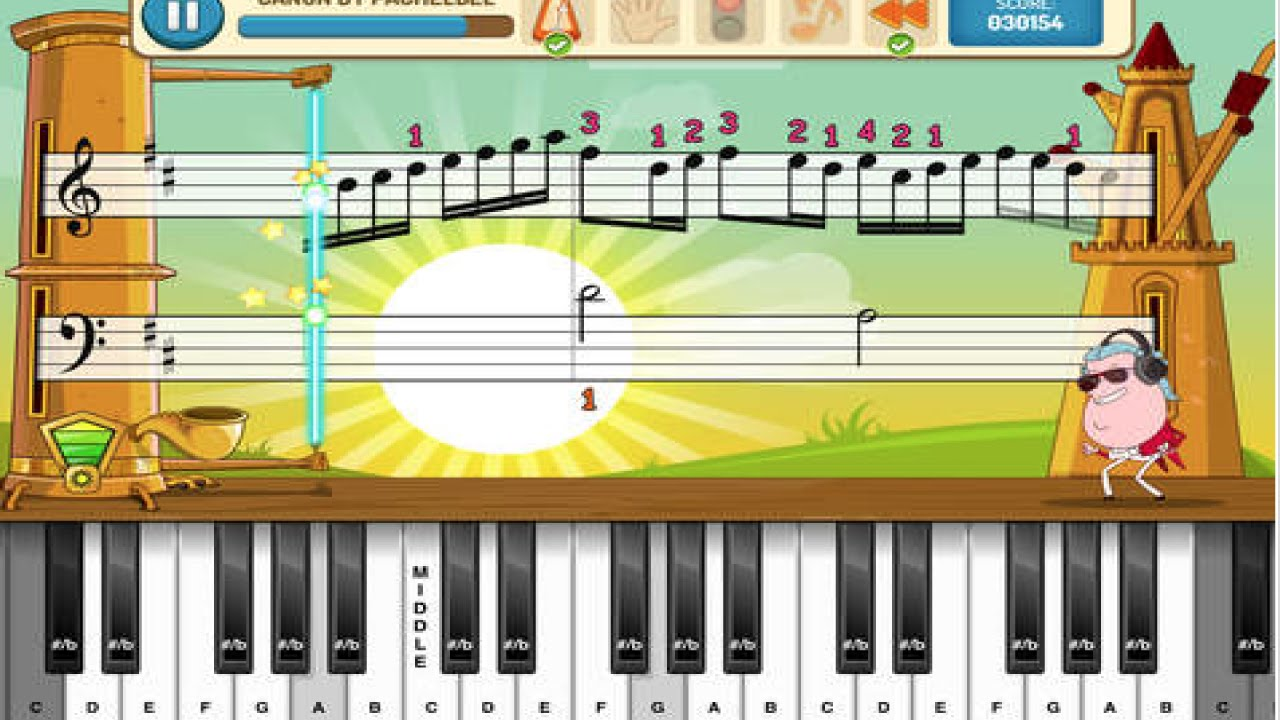 Kids learn piano, music lesson, sounds, notes, beats ...