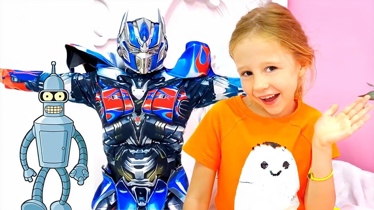 Nastya encuentra un robot de juguete que cumple los deseos
