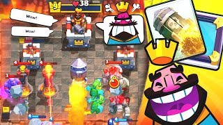 ROCKET CYCLE WORKS!! - CLASH ROYALE TROLL DECK