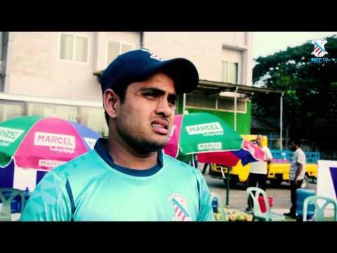 Al Amin Jr. after scoring 106* against Khelaghar in Dhaka League