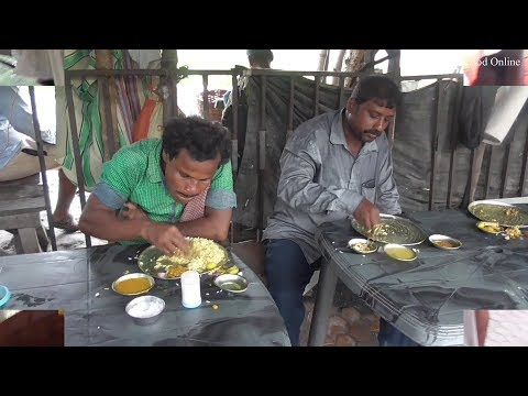Common People Taking Lunch Rice Fish Curry | Kolkata Esplanade Bus Depot