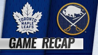 Matthews scores in Leafs' 3-2 win against Sabres