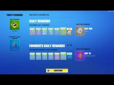 Fortnite New Founders Daily Rewards Save The World
