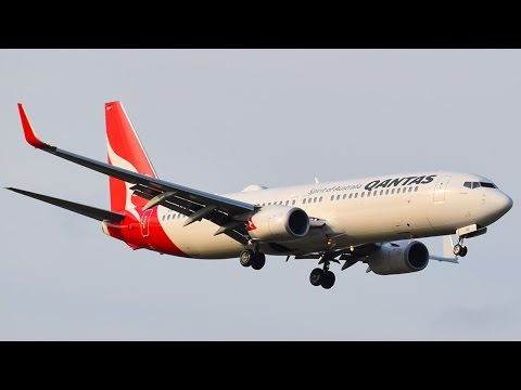 The FIRST QANTAS 737 with a WIFI HUMP Lands at Melbourne Airport