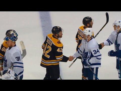 Handshakes: Bruins edge Maple Leafs after wild series