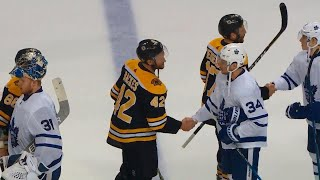 Handshakes: Bruins edge Maple Leafs after wild series