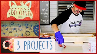 3 Easy Epoxy Resin Home Decor Projects | Cutting Board Tray and Sign