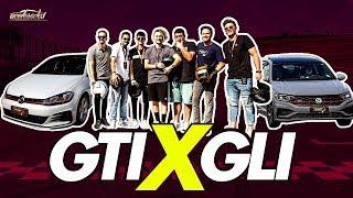 Golf GTI x Jetta GLI! Colocamos os dois esportivos juntos na pista ft. YouTubers - Especial #255