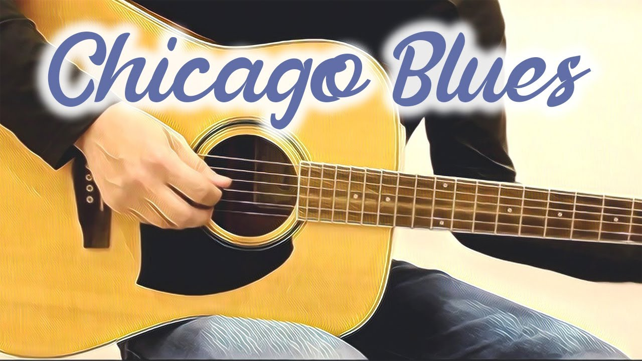 Chicago Blues Improvisation in A (acoustic guitar