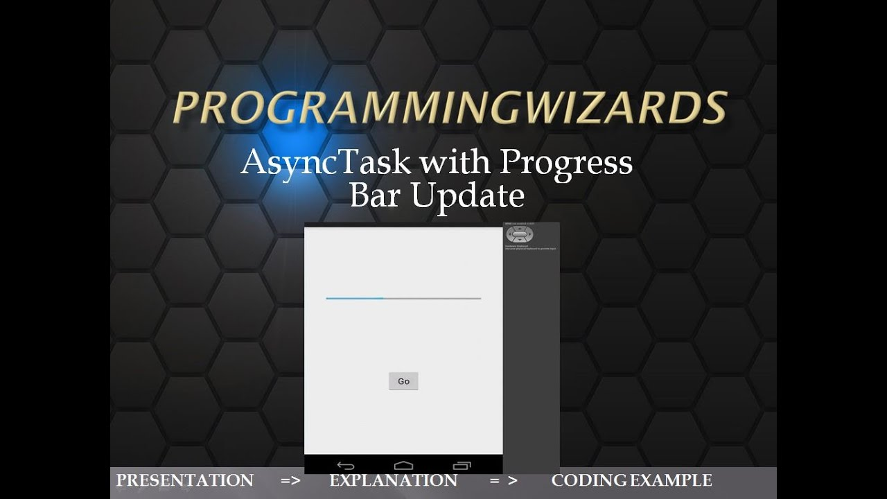 AsyncTask Threading with Progress Bar update