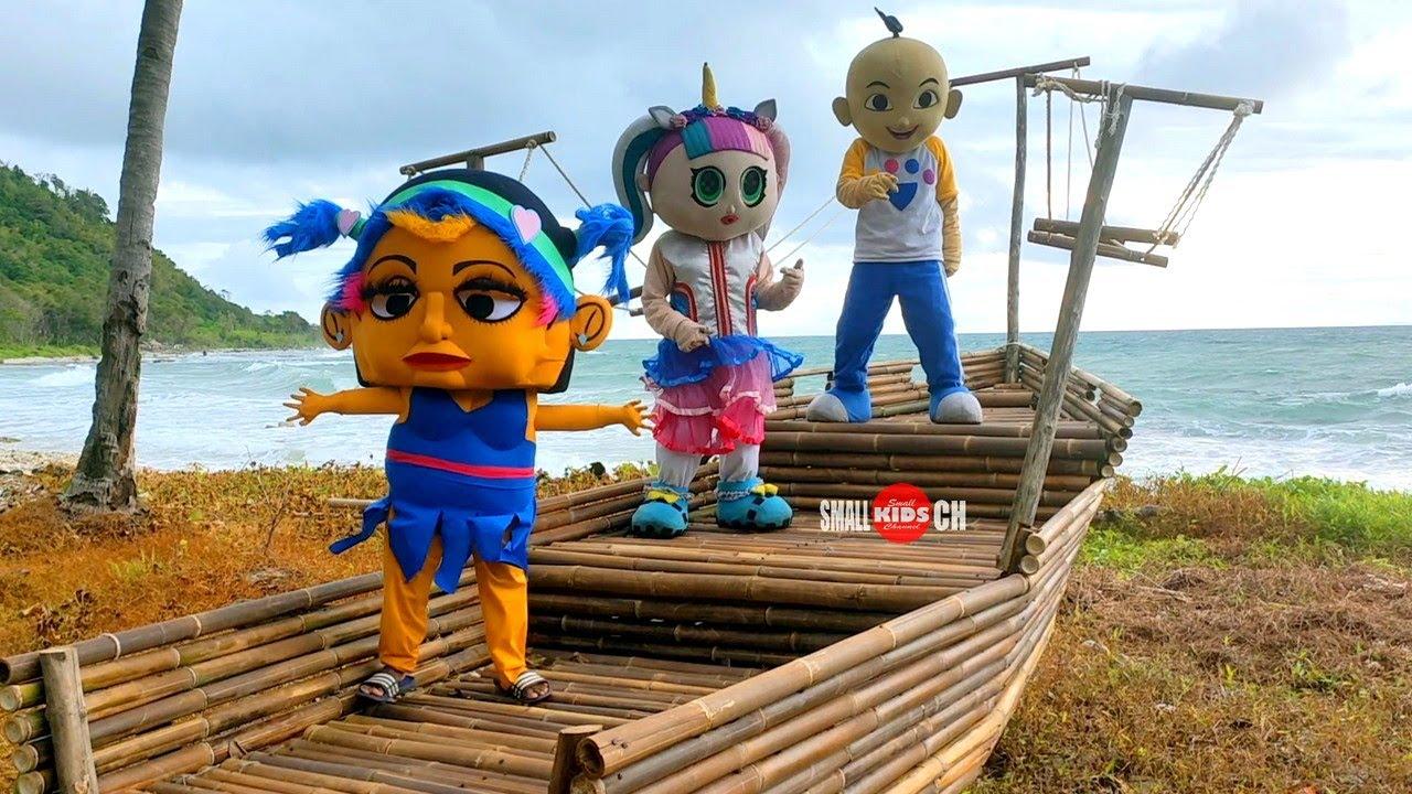 Badut TikTok Terpesona Keindahan PANTAI 🌊🛶 Badut Mampang Boneka Mampang Badut LoL Badut Upin Ipin