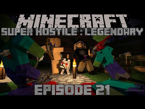 Minecraft Super Hostile: Legendary // Episode 21- Cheating the System and ZOMBIE RAIDS!