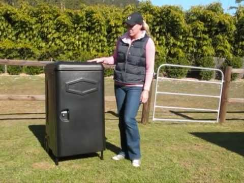 how to build horse tack box