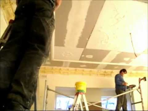 Plastering How to Install an Ornate Plaster Ceiling Part 19