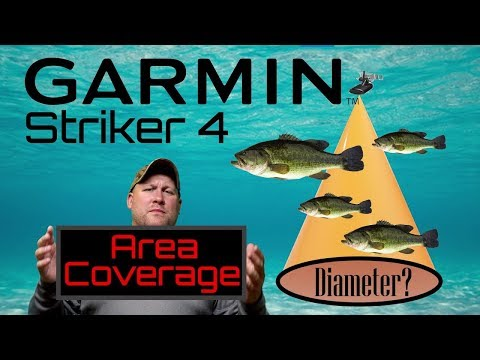 GARMIN STRIKER 4 Fish Finder Coverage Area Tutorial (Sonar Cone Tips And Tricks)