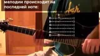 Уроки гитары Metallica Nothing Else Matters Часть 1