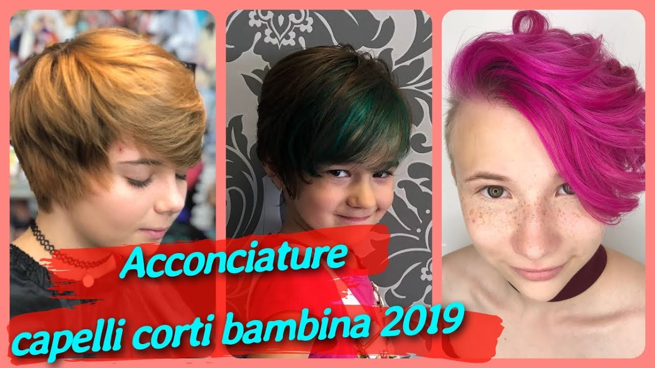Molto Top 20 idee 🌸 per acconciature capelli corti bambina 2019 - YouTube JB29