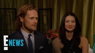 sam heughan caitriona balfe play who knows who better   e news