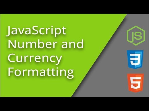 International Number And Currency Formatting With JS