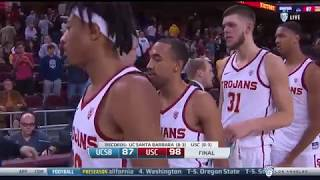 Men's Basketball: USC 98, UC Santa Barbara 87 - Highlights 12/17/17