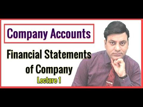 Accounts: Financial Statement of Company: Lecture 1: Balance Sheet of Company: CA I CS I CMA