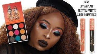 NEW Juvias place festival palette and liquid lipsticks (Soil & Dudu) Makeup tutorial