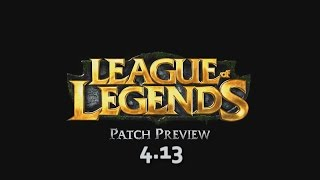 "Patch Preview 4.13 | ""A New Dawn"" 