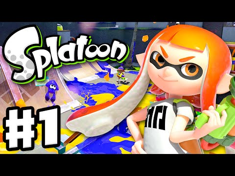 Splatoon - Gameplay Walkthrough Part 1 - Intro, Multiplayer,