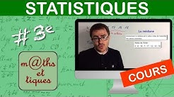 LE COURS : Statistiques - Troisième