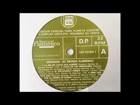 Granada - Su mundo flamenco. Cara A. LP Vinilo Hispavox, 1988.