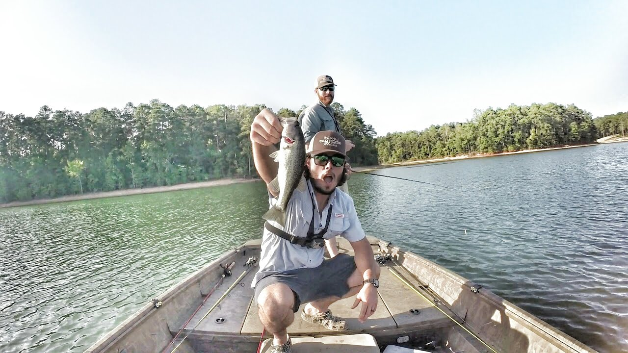 Spotted bass at clark 39 s hill lake bass fishing youtube for Clarks hill lake fishing report