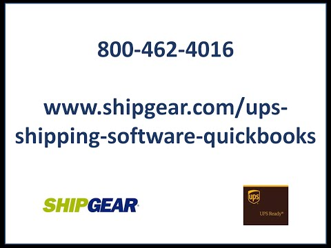 UPS Shipping Software for QuickBooks
