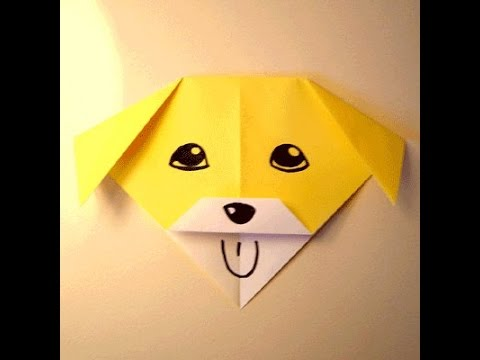 how to make origami animals for kids- Origami Talking Dog