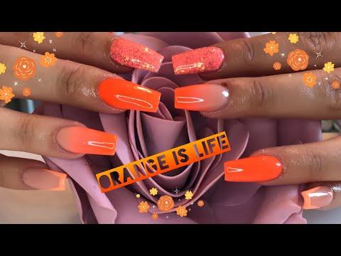 Neon Ombré | real time | Full acrylic nail tutorial thumbnail