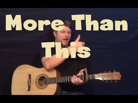 More Than This (ONE DIRECTION) Easy Guitar Lesson Strum Chord How To Play Tutorial