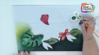 Pintando Folhas com  Verônica Silva