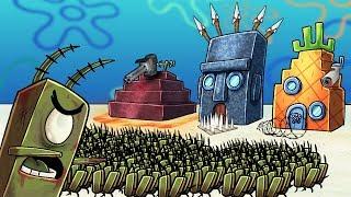 Minecraft | SECURE BASE CHALLENGE IN BIKINI BOTTOM - Zombie Planktons! (Spongebob Base)