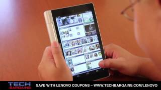 Lenovo Yoga Tablet 8 Video Review (HD)(Click http://www.techbargains.com/lenovo or techbargains.com/lenovo for the latest coupons and deals for Lenovo computers and tablets. Here's our video ..., 2014-01-02T19:42:51.000Z)