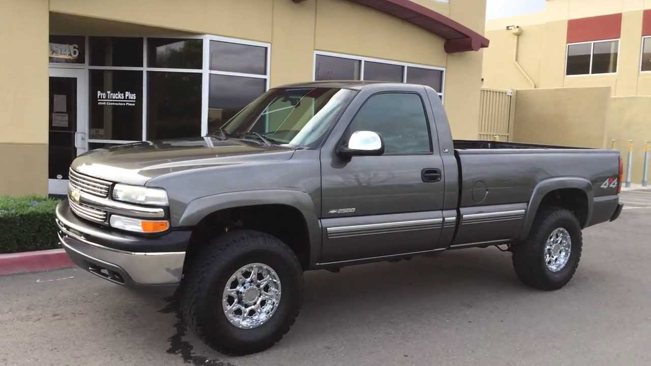 For sale 2000 chevy 2500 4x4 single cab pro comp lift livermore truck youtube