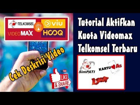 Cara Aktifkan Kuota Videomax Telkomsel 100% Work