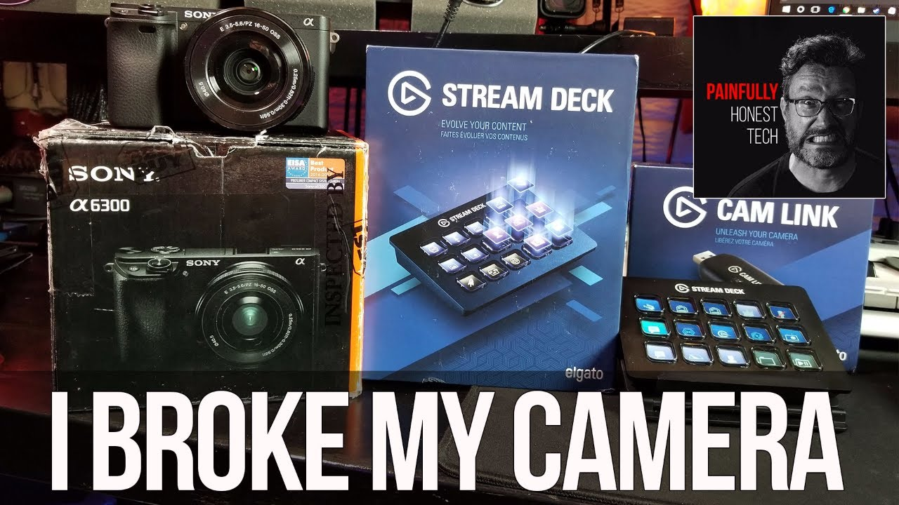 Sony A6300, Elgato Cam Link, Elgato Stream Deck by PAINFULLY HONEST TECH