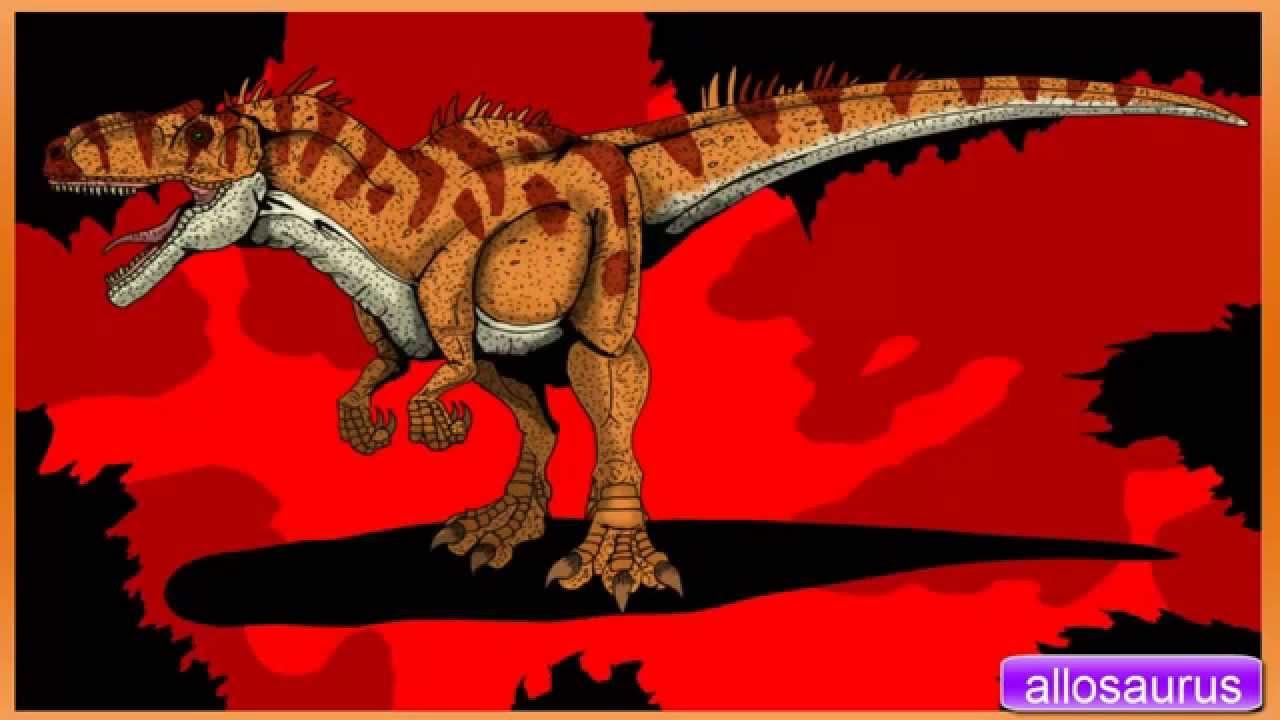 Allosaurus Noises efeito sonoro, dinossa...