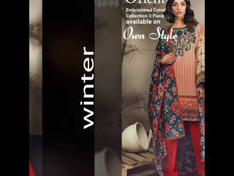 Orient Winter 2017 Collection Available On Own Style. G9 Markaz Karachi Company Islamabad Pakistan.