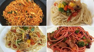 Tasty Spaghetti 4 ways • 4 Tasty Spaghetti • How to Make Tasty Spaghetti in 4 ways
