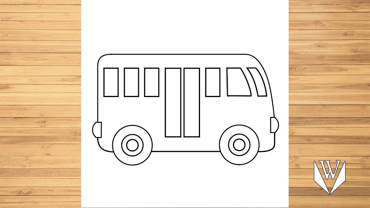 Как нарисовать автобус, шаг за шагом, Easy Draw | Скачать ...